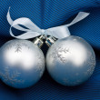 Stock Photo: Two silvery fur-tree spheres