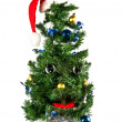 Singing Christmas fur-tree - Stock Photo