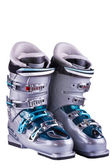 Mountain-skiing boots — Stock Photo