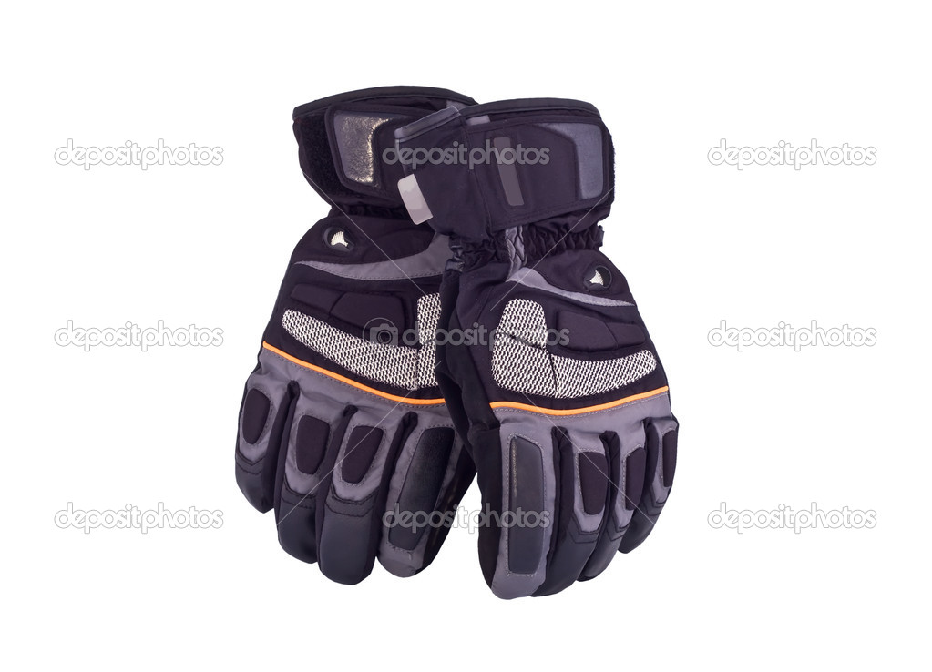 Black sports gloves on a white background  Stock Photo #1056248