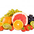 Stock Photo: Group of juicy tasty fruit
