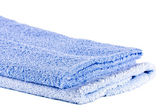 Blue soft fluffy towels — Stock Photo