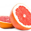 Juicy red grapefruit isolated - Stock Photo