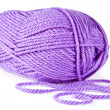 Lilac knitting on spokes large — ストック写真
