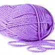Lilac knitting on spokes large — Stock Photo