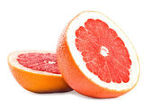 Juicy red grapefruit isolated — Stock Photo