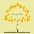 Royalty-Free Stock Imagen vectorial: Background with a tree