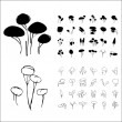 Vetorial Stock : Vector trees