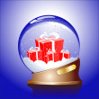 Royalty-Free Stock Imagen vectorial: Winter sphere with a gifts