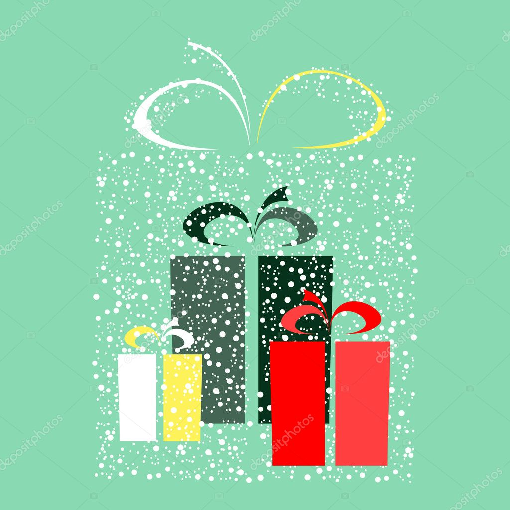 Stylized gift vector — Stock Vector #1076603