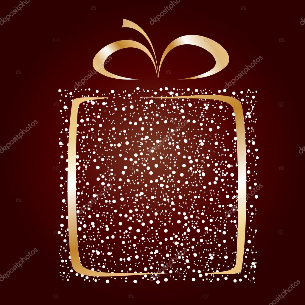 Stylized gift vector — Stockvectorbeeld #1076607