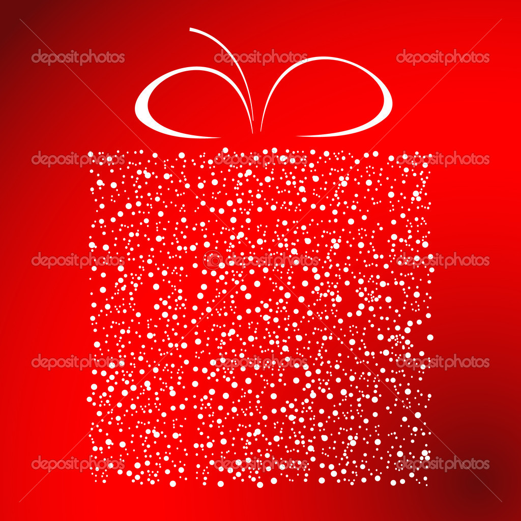 Stylized gift vector  Vektorgrafik #1076612
