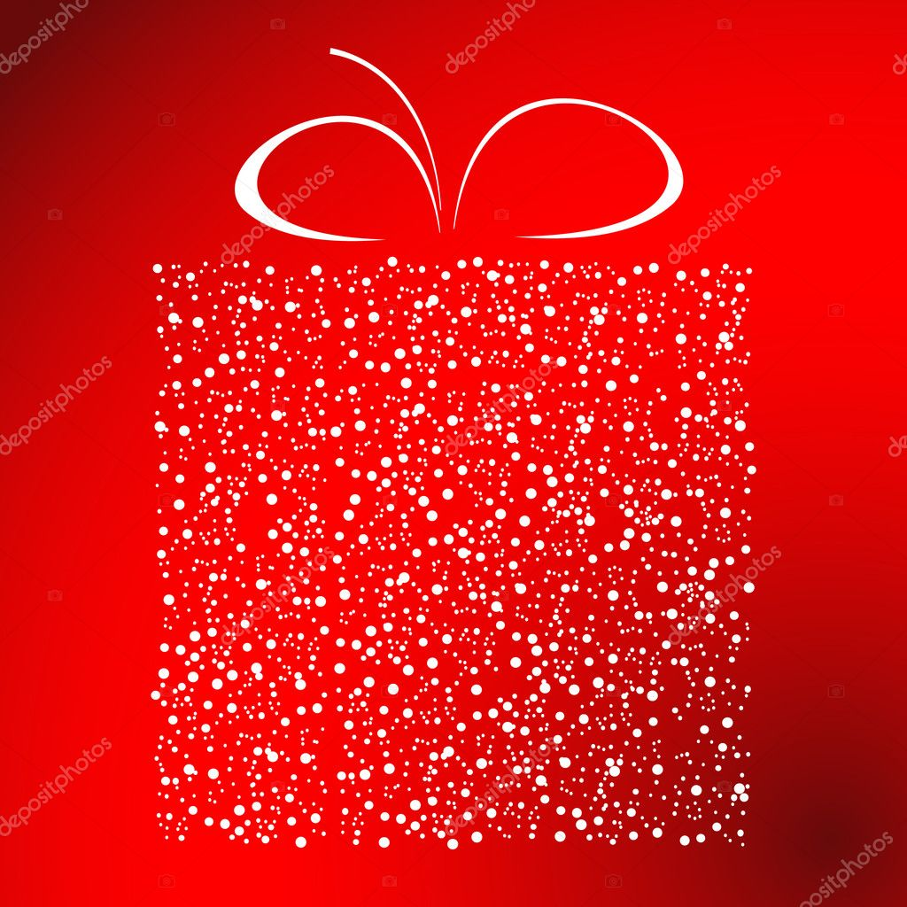 Stylized gift vector — Stockvectorbeeld #1076612