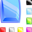 Royalty-Free Stock Imagen vectorial: Square buttons of different color
