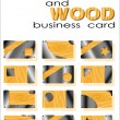 Royalty-Free Stock ベクターイメージ: Metal and wood of business card