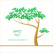 Royalty-Free Stock Vector Image: Summer background with a tree