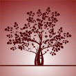 Background with a tree - Stock Vector