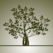 Bakgrund med ett träd — Stockvektor