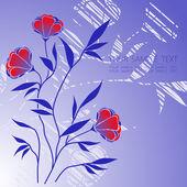 花の背景 — ストックベクタ