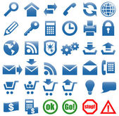 Icons for the web site Internet. — Cтоковый вектор