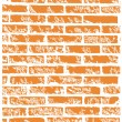Stock Vector: Brick wall.