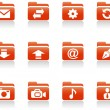 Royalty-Free Stock Imagen vectorial: Folder icons.