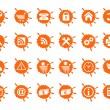 ikony pro internetové a webové stránky — Stock vektor