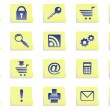 Royalty-Free Stock Vector Image: Icons on stickers.