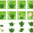 Royalty-Free Stock Vector Image: Icons. Tea.