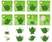 Icons. Tea. — Stock Vector