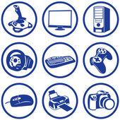 Pictogrammes electronics. — Stock Vector