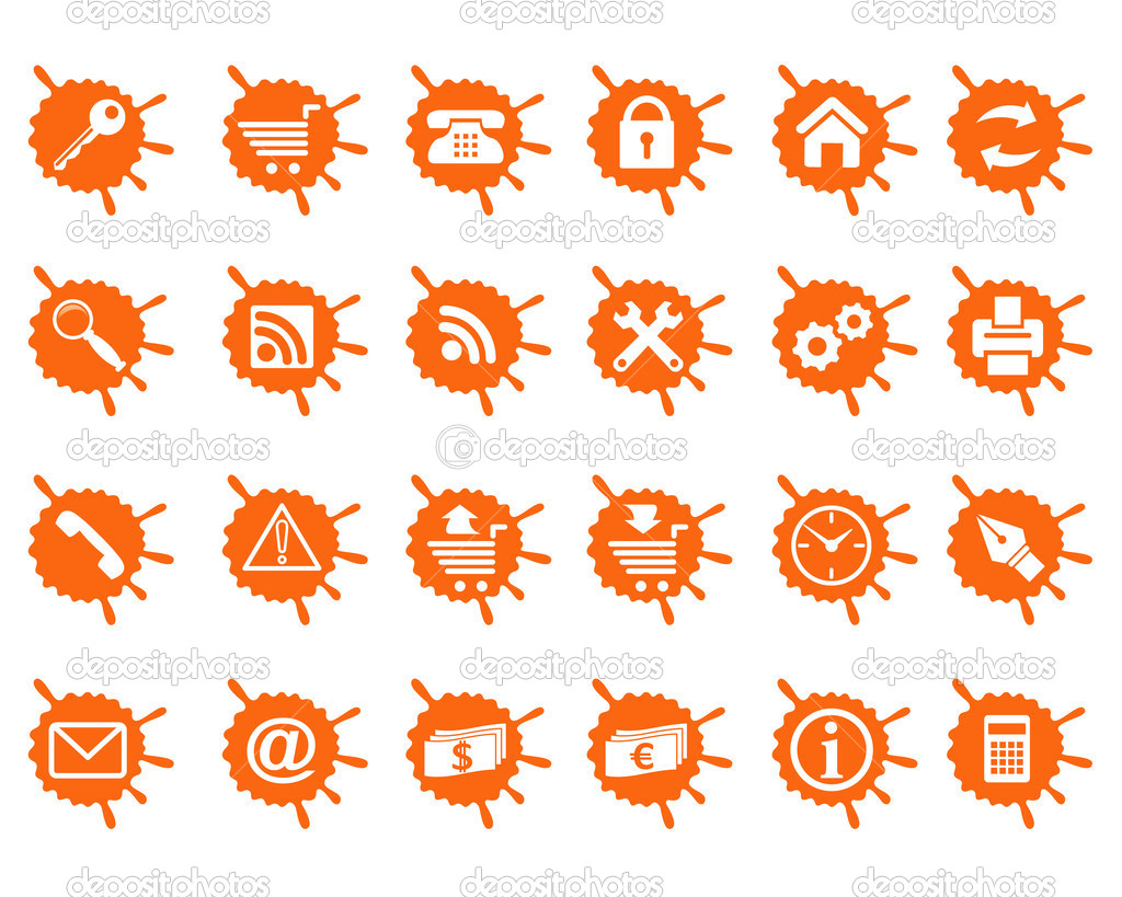 Icons for Internet and Website. — Stock Vector ...
