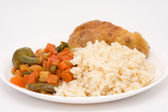 Rice with vegetables and meat. — Stock Photo