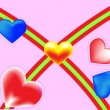 Royalty-Free Stock Vectorafbeeldingen: Valentines hearts. Vector illustration