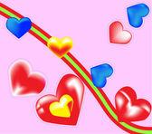 Valentines hearts. Vector illustration — Stock Vector