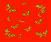 The butterfly. Vector illustration — Vector de stock