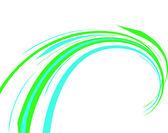 синие и зеленые линии. векторная illustratio — Cтоковый вектор