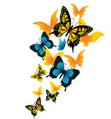 The butterfly. Vector illustration — Vettoriale Stock