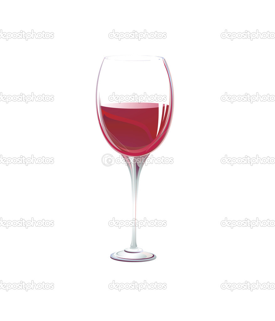 Glass on a white background.vector — Stock Vector #1125560