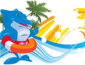 Dolphin. Vector illustration — Stock Vector