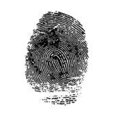 Impressão do dedo indicador. vector ilustr — Vetor de Stock
