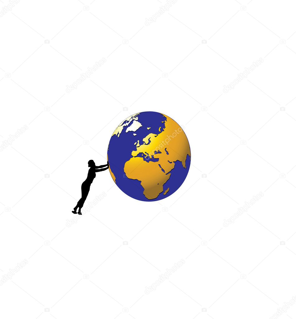Planet on a white background.Vector — Stock Vector #1131873