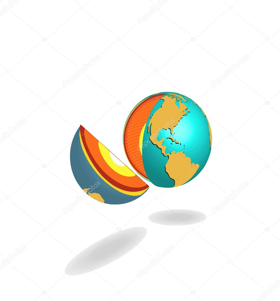 Planet on a white background. Vector  Stock Vector #1131877