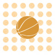 Royalty-Free Stock Vector Image: Orange basketball ball. Vector illustrat
