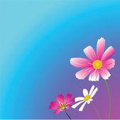 Ilustración de tres flowers.vector — Vector de stock
