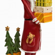 Funny tall skinny Santa Claus in red — Stock Photo