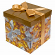 Fancy box with Golden ribbon bow — Stock Photo #1044080