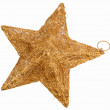 Golden star Christmas decoration — Stock Photo #1044110