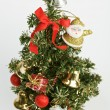 Decorated Christmas tree on white — Stockfoto