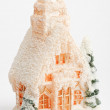 Christmas decoration candle in house - Stockfoto